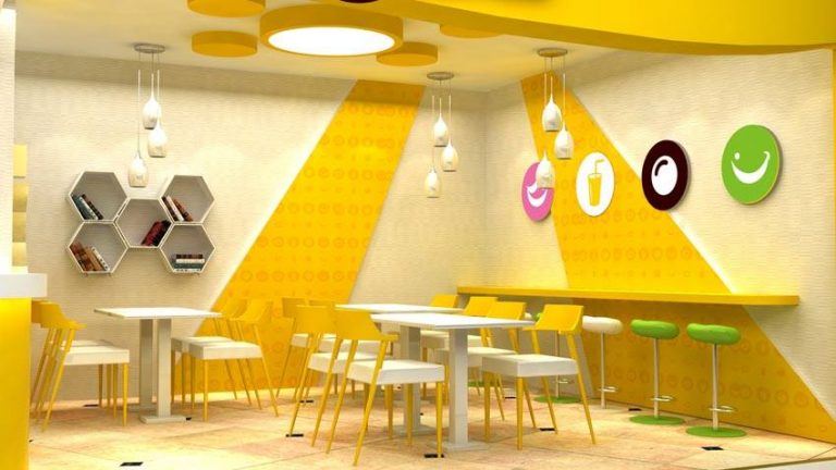 Thiết kế nội thất quán trà sữa