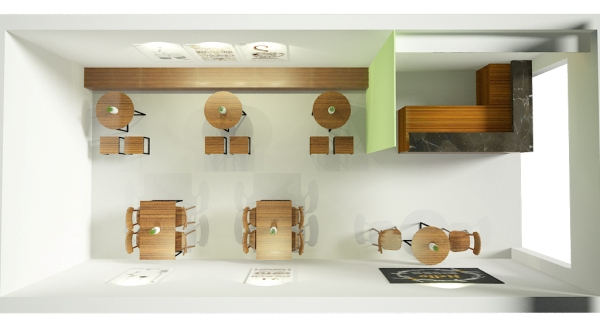Thiết kế quán trà sữa diện tích nhỏ Nabury