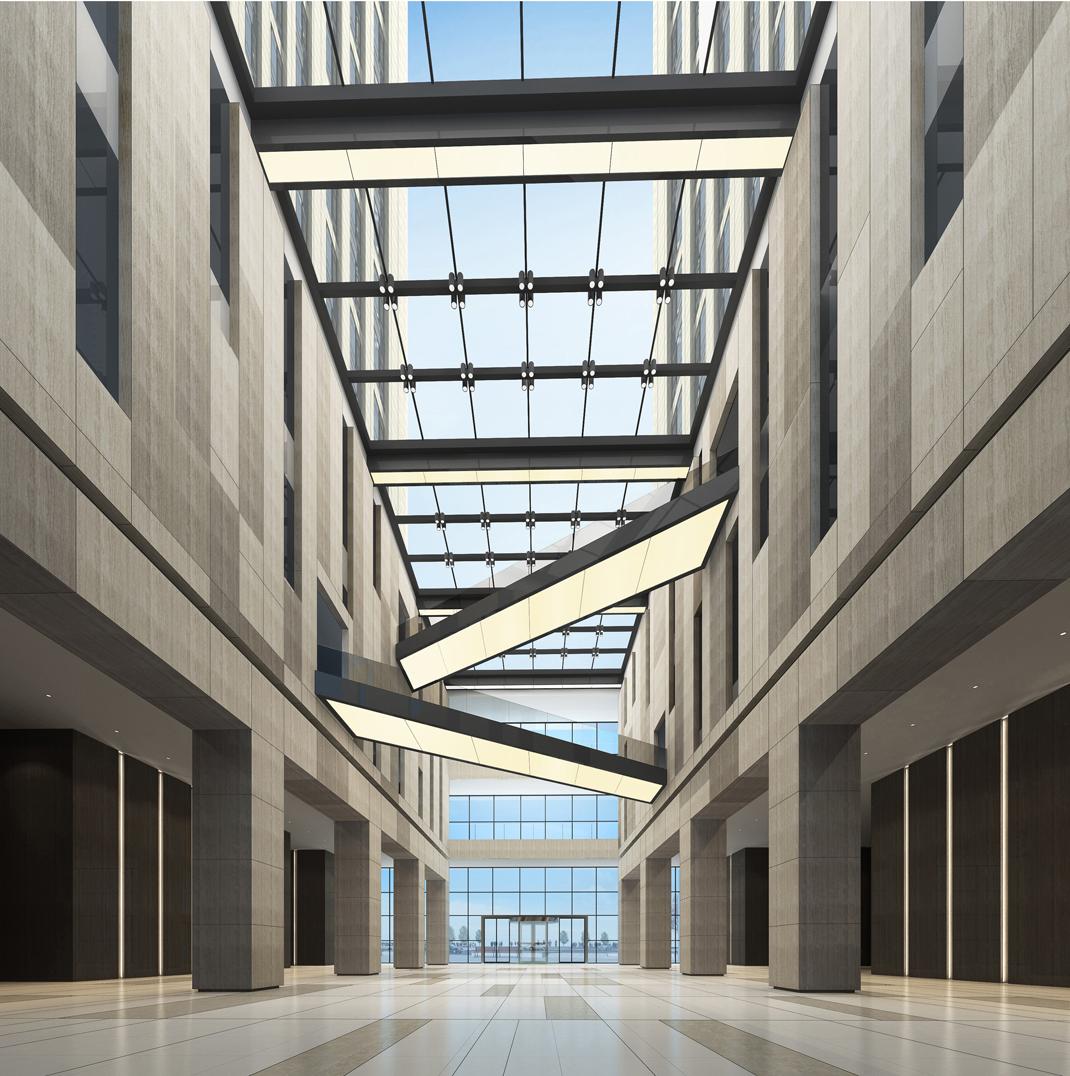 Tổng thể kiến trúc văn phòng hiện đại
