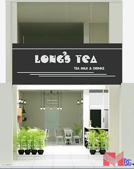 Mặt trước quán trà sữa Long's Tea