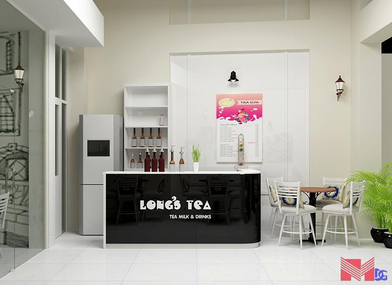 Thiết kế quầy bar quán trà sữa Long's Tea