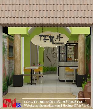 Thiết kế quán cafe tại Kiên Giang - Phần trong nhà
