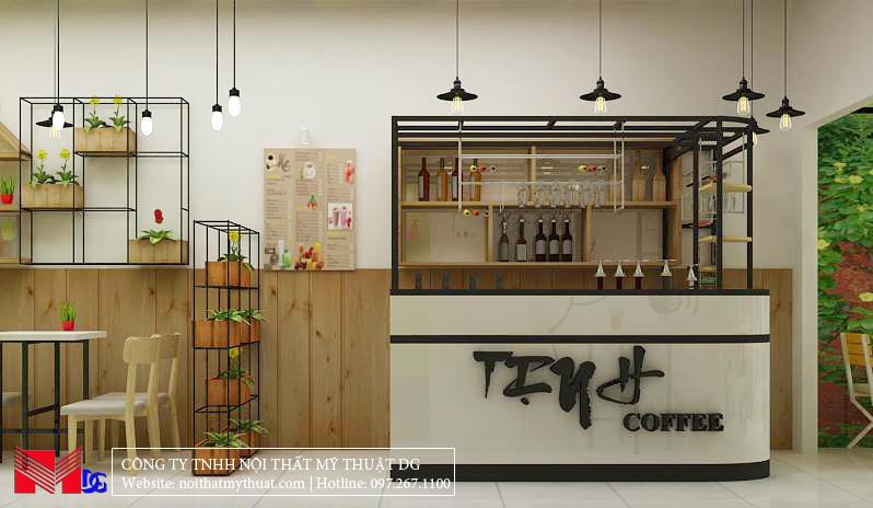 Thiết kế quán cafe tại Kiên Giang - Quầy Bar