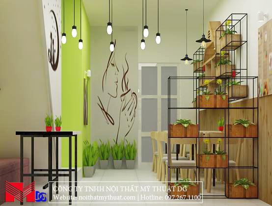 Thiết kế quán cafe tại Kiên Giang - Bố trí nội thất