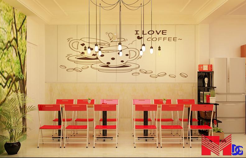 Thiết kế quán trà sữa tại đồng tháp - mom's Love