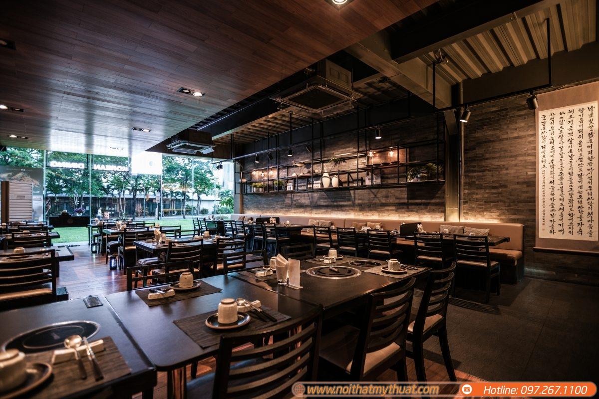 Ấn tượng với mẫu thiết kế nhà hàng Hàn Quốc