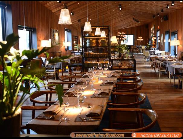 Thiết kế nội thất quán ăn nhà hàng sang trọng thu hút nhiều thực khách