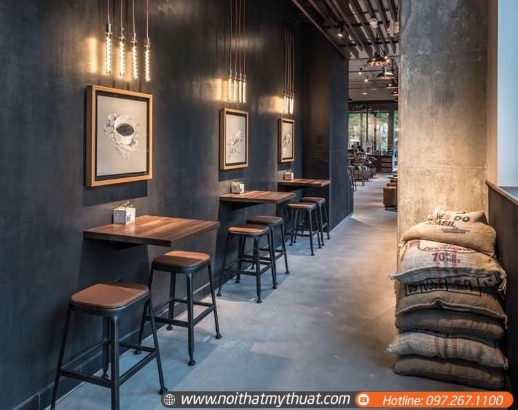 thiết kế nội thất rộng sang trọng với chất liệu gỗ