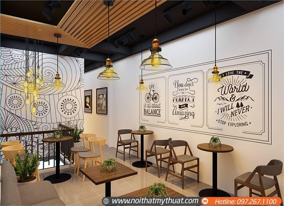 Thi công thiết kế quán cà phê giá rẻ