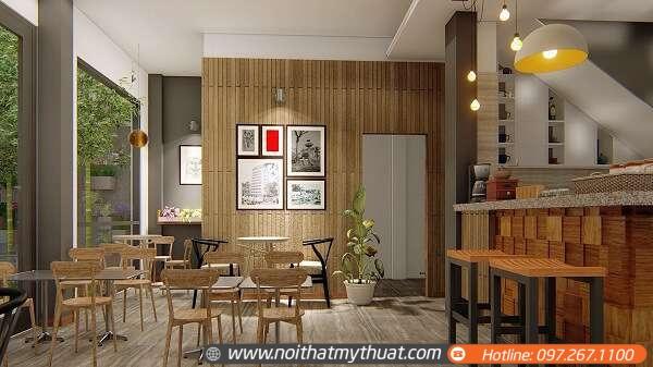 Chúng tôi sẽ cung cấp bản vẽ quán cafe để quý khách hình dung rõ hơn về mặt thiết kế