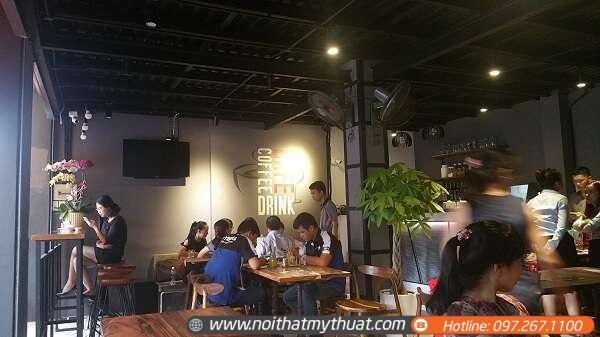 Một góc của thiết kế quán cafe trong nhà tại TPHCM