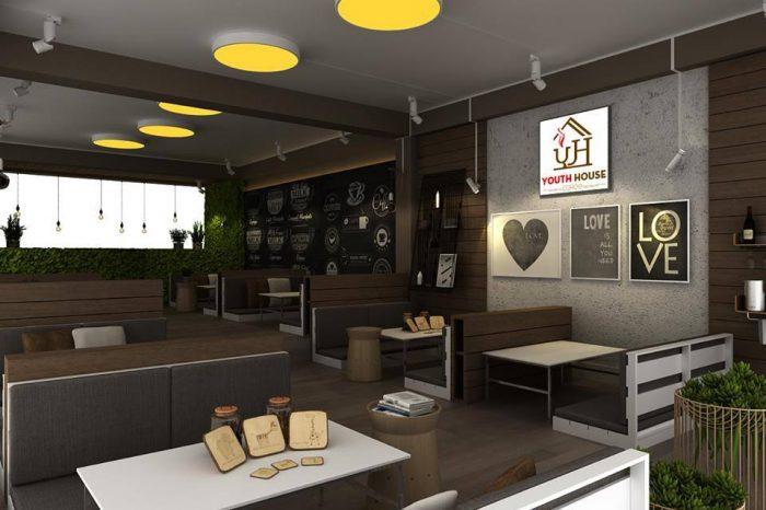 Mẫu thiết kế nội thất quán cafe phong cách hiện đại T001