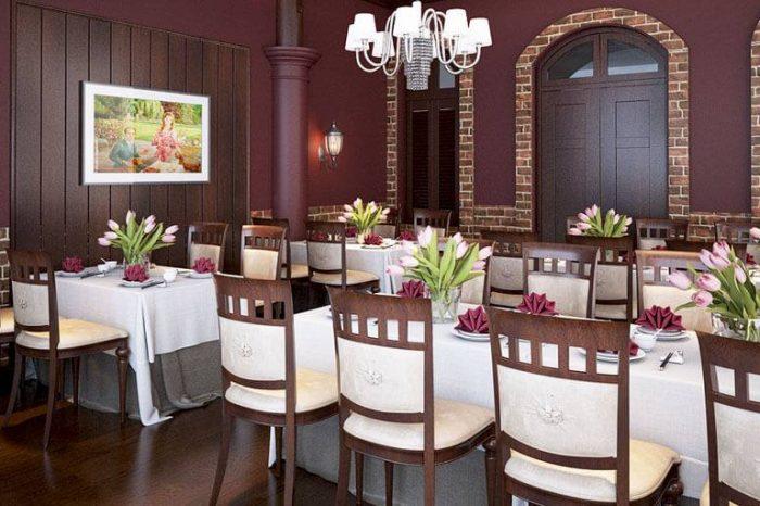 Mẫu nội thất quán ăn nhà hàng A002