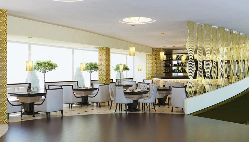 Mẫu nội thất quán ăn nhà hàng A001