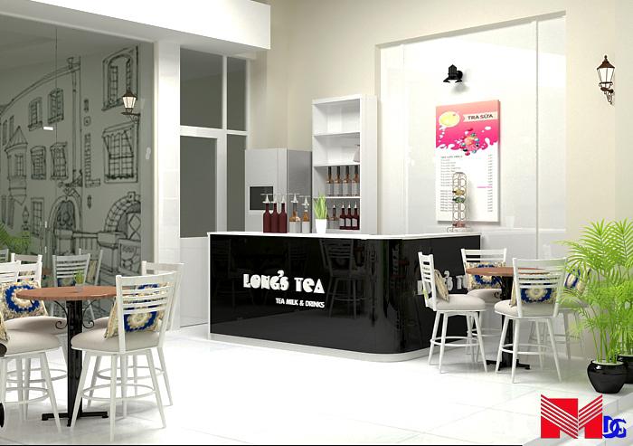 Thiết kế quán trà sữa giá rẻ Long's Tea - TPHCM 7