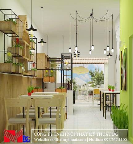 Thiết kế quán cafe tại Kiên Giang - Nhìn ra ngoài