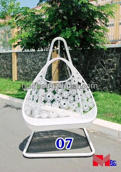 Ghế xích đu nhựa giả mây XD07