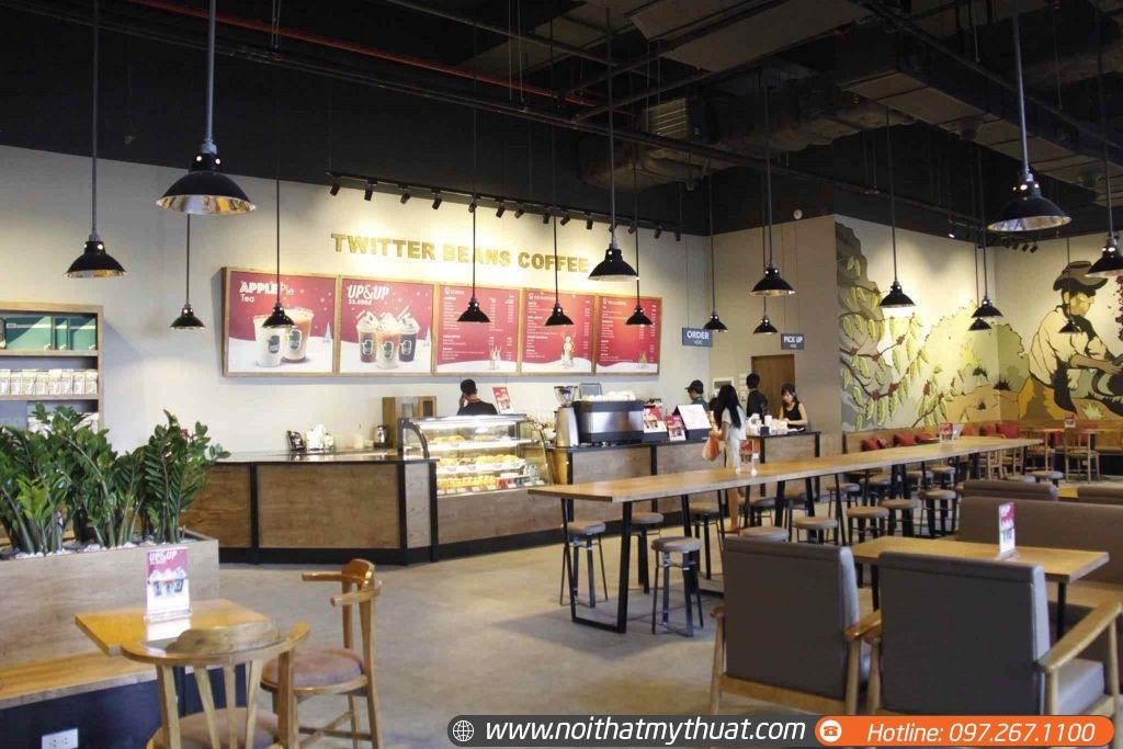 nhận tư vấn set up thiết kế quán cà phê trà sữa